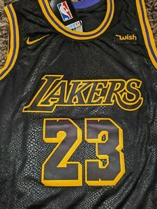 Details about Lebron James Nike Black Mamba Edition Los Angeles Lakers Jersey Size 50 L Large