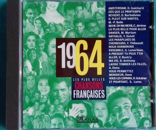 CD LES PLUS BELLES CHANSONS FRANÇAISES 1964 Ref 0748