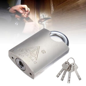 New-40mm-Heavy-Duty-Closed-Shackle-High-Security-Solid-Steel-Lock-Padlock