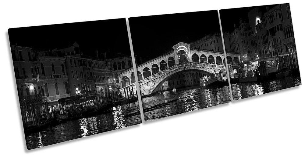 Venice Rialto Bridge Picture CANVAS WALL ART Triple Print