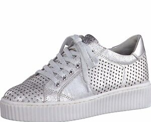 Größe 73750 Feel Me Plateau 41 Marco Damen Tozzi 40 Sneaker Silber 3L4j5AR