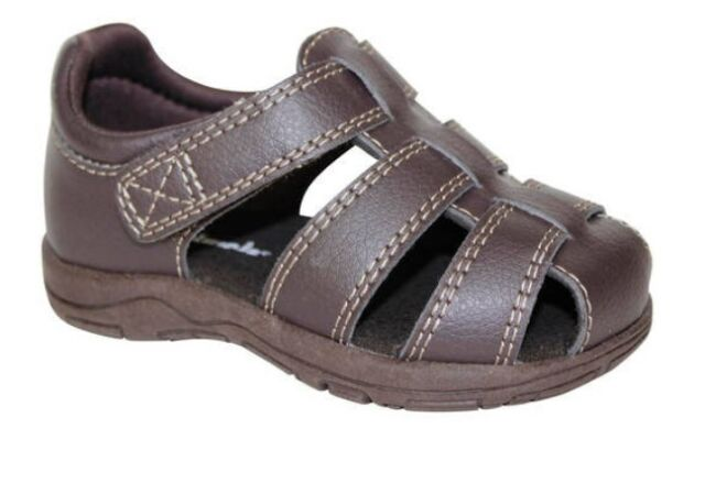 Toddler Baby Boy Girl Sandal Boot Wax Leather Soft Sole Shoe Brown Size 3 4 5
