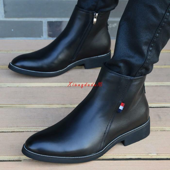 Mens Casual high top pointy toe dress chukka dress formal shoes ankle boots