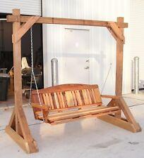 Free Standing Porch Swing Stand  - Woodworking Plans - Cedar Swings N Things