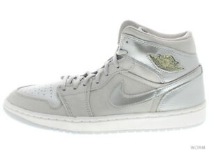 AIR JORDAN 1 RETRO + 136065-001 neutral grey metallic silver 1 Size ... eb7c3d722
