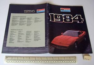 1984 Vintage Monogram USA Plastic Kit Catalogue - Cars Aeroplanes Ships etc