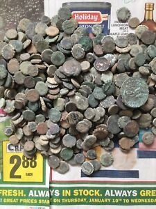 uncleaned-and-unsorted-Greek-desert-coins-from-Israel-Each-Bid-is-per-coin