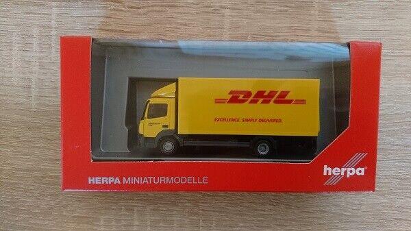 "Herpa 310505 - 1/87 Mercedes-Benz Atego Camion Boîte avec Hayon "" DHL "" - Neuf"