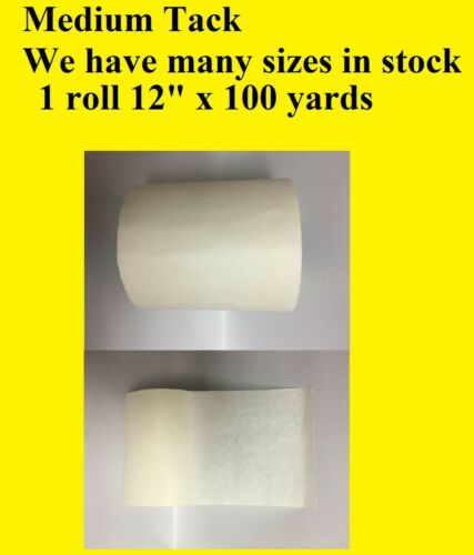 "12/"" x 100 Yards tape Application Transfer Tape Paper for Vinyl Signs Craft RTape"