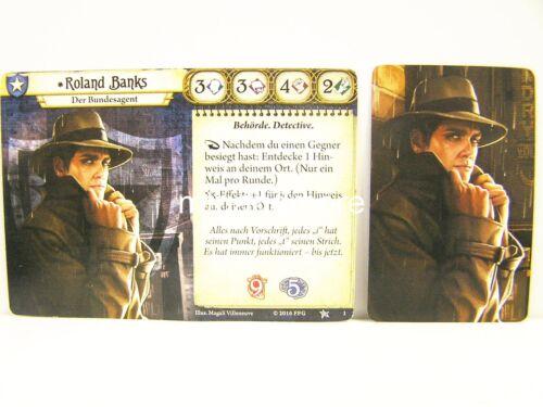 Base Set Arkham Horror LCG deutsch #001 Roland Banks Minicard