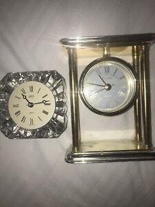 Vintage Clocks Bulova Gold Mikasa Crystal Tested Working Nice Ebay