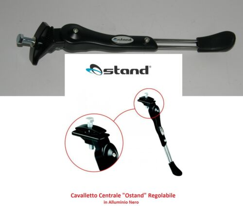 "Stand /""ostand/"" Black Aluminium Adjustable for Bike 24-26 type graziella"