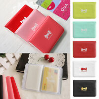 US Cute Women Business ID Credit Card Holder Pocket Bag Wallet Purse Case Pouch