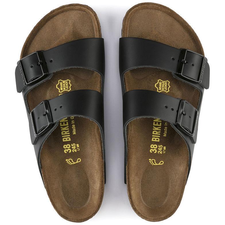 Sandali e scarpe per il mare da uomo Birkenstock ARIZONA NERO IN PELLE NATURALE 051191/051193 Sandali Pantofole NUOVO