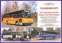Prospekt EA Ernst Auwärter Clubstar City 1992 Bus Omnibus brochure coach
