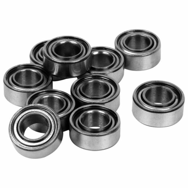 10pcs Miniature Sealed Metal Shielded Metric Radial Ball Bearing Model: MR10 SHJ
