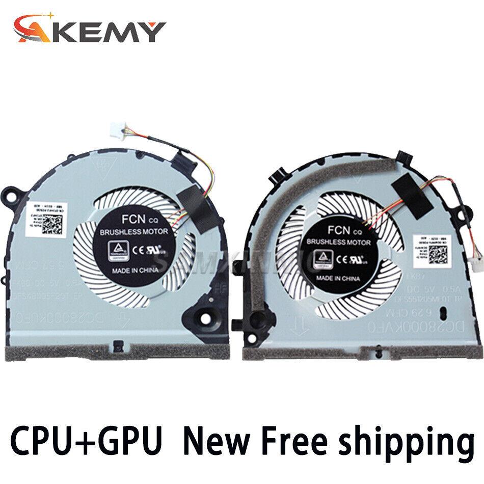 New Dell G3-3579 3779 G5 5587 Gaming Laptop CPU & GPU Fan 0TJHF2 0GWMFV One Pair