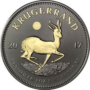 Des-Krugerrands-Argent-2017-50-ans-numero-anniversaire-Black-ruthenium-Edition