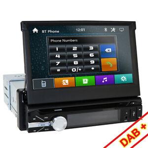 Single-One-DIN-7-inch-HD-Car-CD-DVD-Player-GPS-SAT-NAV-Bluetooth-Stereo-Radio-UK