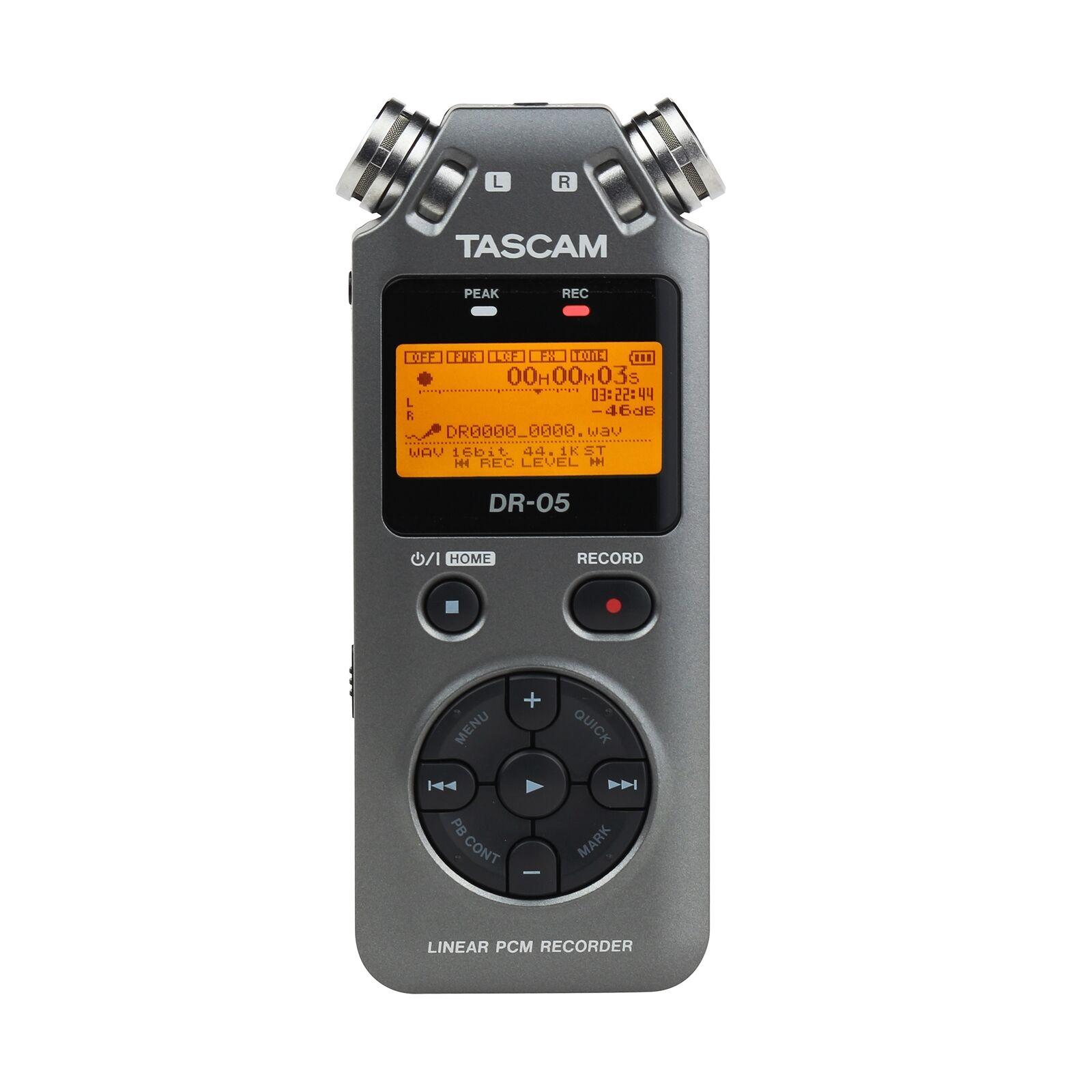 Tascam DR-05 Version 2 Handheld PCM Portable Digital Audio Recorder grau DR05 V2