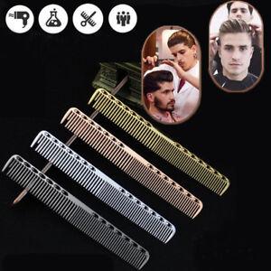 Silver-Gold-Aluminum-Metal-Cutting-Hair-Hairdressing-Barbers-Salon-Combs-34CA