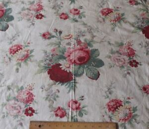 Pretty-American-Vintage-c1940-Floral-Bouquet-Cotton-Fabric-L-35-034-X-W-49-1-2-034