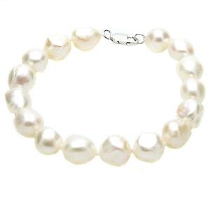 Baroque-Pearl-Bracelet-Sterling-Silver-Large-Natural-Cultured-Freshwater-Pearls