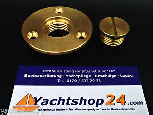 Verschlussstopfen Lenzstopfen Ø Ausschnitt: 26 mm Bilgestopfen aus Messing,