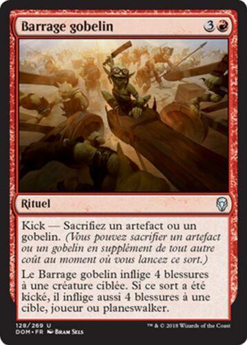 Barrage gobelin MTG magic DOM MRM FRENCH 4x Goblin Barrage