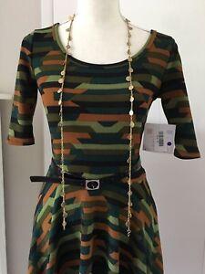 553936c6d7cd6 Lularoe XS Extra Small Camo Camouflage Nicole Dress Unicorn Rare HTF ...