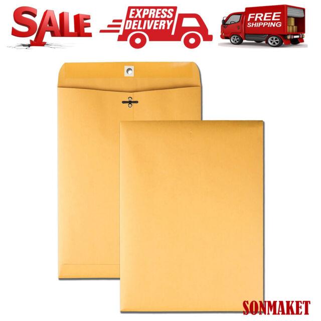 "30 PCS CLASP ENVELOPES 9x12/"" 28lb Kraft Shipping Mailing Gummed Business Papers"