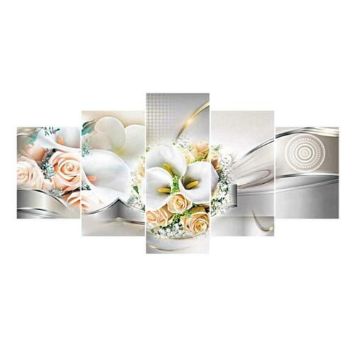 5-pictures DIY 5D Diamond Painting Embroidery Cross Craft Stitch Kit Home Decor