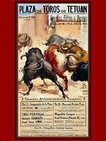 3491.plaza De Toros De Tetuan.spanish Poster.matador Bullfighter Spain Art Decor