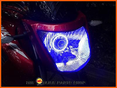 Super Bright Blue LED Angel Eye Halo Ring Suits KTM 125 Duke Enduro Sport