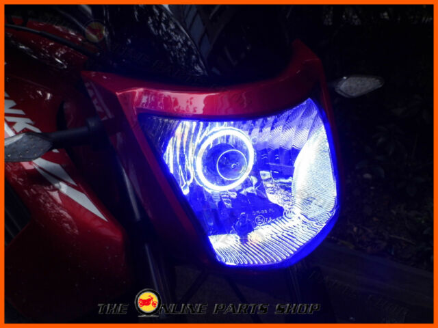 Super Bright Blue LED Angel Eye Halo Ring Suit Kawasaki ZZR 1400 Special Edition