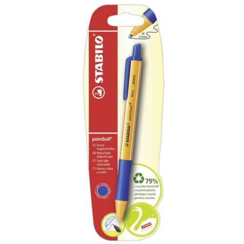 STABILO pointball Druck-Kugelschreiber Schreibstift Einzelstift blau 1 Stück
