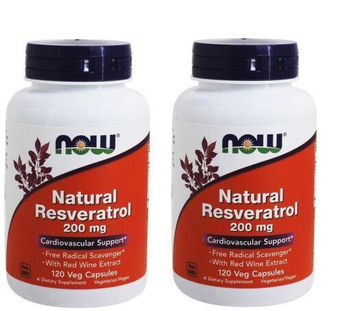 NOW-Foods-Mega-Potency-Natural-Resveratrol-200-mg-120-Vegetarian-Capsules-2-Pack