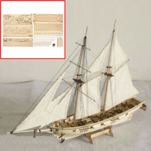 Details About Diy 1100 Scale Wooden Sailboat Ship Kits Home Model Decoration Boat Toy Gifts