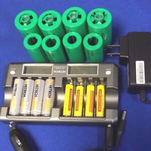 AA/AAA(8 slots)Charger-<wbr/>LCD*UL*+16 of each 4 AA,4 AAA Rechargeable & 4C,4D Spacer