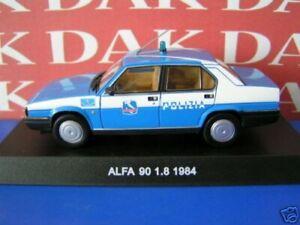 Die-cast-1-43-Modellino-Auto-Polizia-Police-Alfa-Romeo-90-1-8-1984