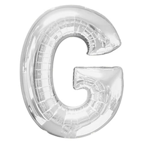 Diapositives ballon 80 cm argent lettres Ballon Ballon Alphabet Helium Remplissage /&