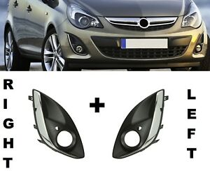 NEW VAUXHALL OPEL CORSA D 2011-2015 FRONT BUMPER FOG LIGHT GRILLE RIGHT O//S