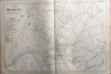 ORIGINAL 1896 L.J. RICHARDS, METHUEN, MASSACHUSETTS, FAIR OAKS, PLAT ATLAS MAP