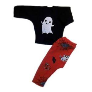 36f640ecc4d4 Happy Ghost Black Halloween Baby Shirt Leggings - 4 Preemie and ...