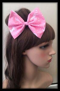 Unicorn Hair Bow Headband Hairband Elastic Band Ponytail Dress Hair Tie Dress
