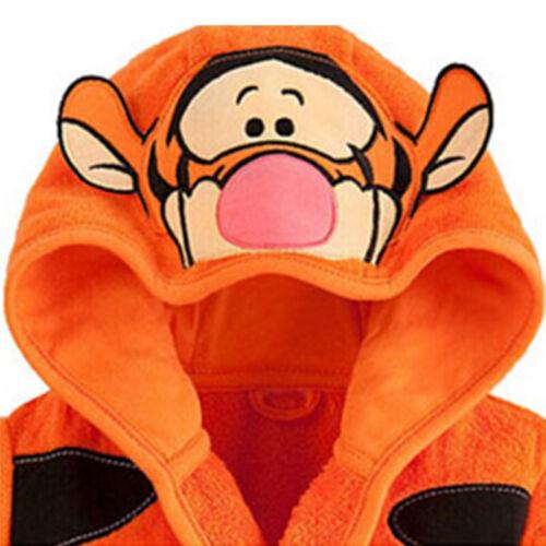 Toddler Kids Boys Tiger Hooded Bath Robe Sleepwear Dressing Gown Fancy Pajamas