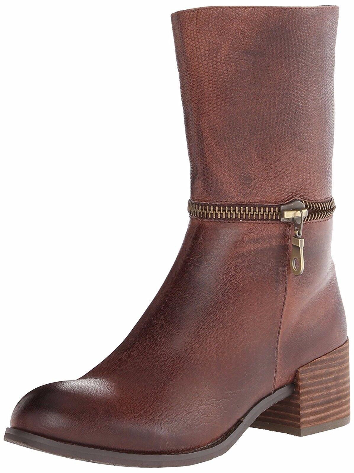 Antílope Zapatos 353 botas Café parche parche parche de cuero en relieve en mitad de pantorrilla Botines 39 Nuevo  249  ahorrar en el despacho