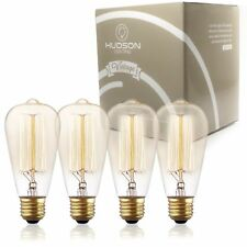 TOP RATED Hudson Lighting Vintage Antique Style Edison Bulb - 4 Pack - ST64 - -