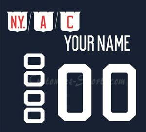 separation shoes 01a41 7a881 Details about New York Rangers Customized Number Kit for 2018 Winter  Classic Jersey