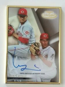 Details About Luis Castillo 2018 Topps Gold Label Framed Autograph Auto Baseball Card Reds Ace